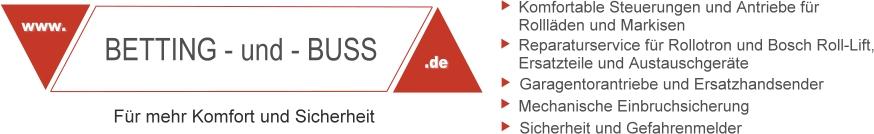 Übersicht Reparatur-Service und Logo von Betting und Buss